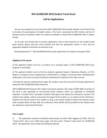 northern travel grant application form