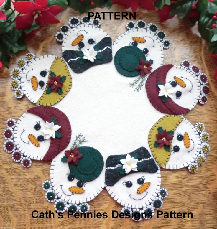 penny rugs sewing wool applique