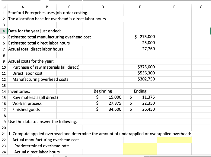 how to calculate overhead application rate