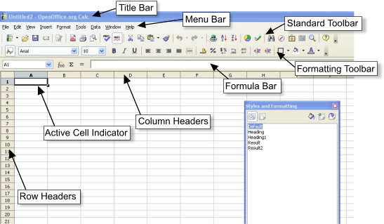 applications of spreadsheets in three different areas