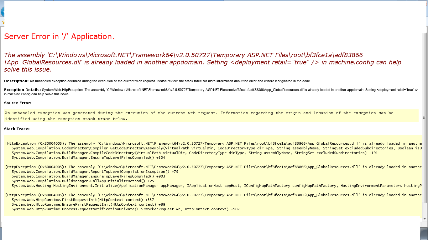 microsoft net unhandled exception has occurred in your application