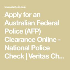 australian federal police check online application
