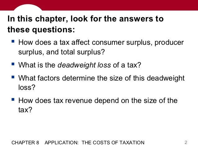 chapter 8 application the costs of taxation answers