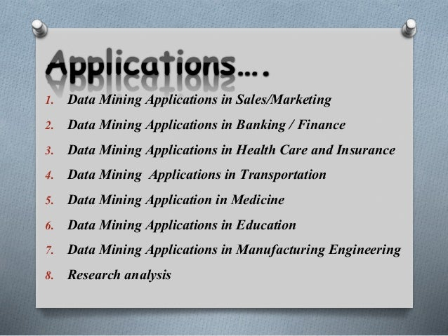 application of data mining in government