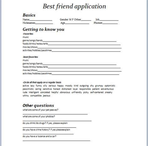 application to be my friend