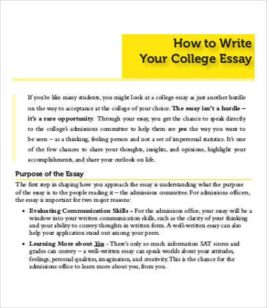 how to format a college application essay